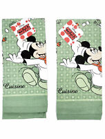 Mickey Mouse Chef Kitchen Dish Towels 2-Piece Set Green