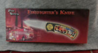 Pocket Knife Folding Blade Firefighters Gold Plated Handle Frost Cutlery NIB