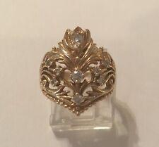 Franklin Mint Empress Josephine Jeweled Diamond Tiara Ring Vintage Limited Edit.