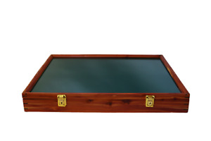 Cedar Wood Display Case 18 x 24 x 3 for Arrowheads Knifes Collectibles & More