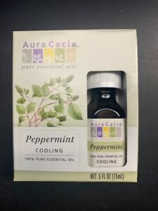 Aura Cacia  Pure Essential Oil Peppermint Cooling 0.5 fl.oz./15 ml