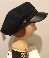 Trendy Fiddler Cabby Cap Greek Fishing Hat Navy Size S/M or L/XL