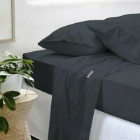 Gainsborough 300TC 100% Cotton Percale Sheet Set- Midnight