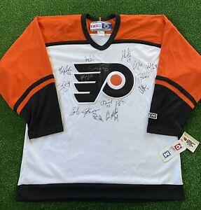 VTG JEREMY ROENICK & Others Signed Autographed Philadelphia Flyers CCM Jersey