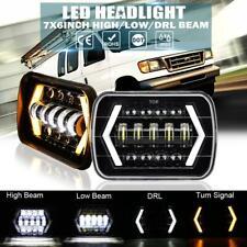 "Pair 5x7"" 7x6"" 150W LED Headlights DRL Beam DOT Lamp for Ford E150 E250 E350 Van"