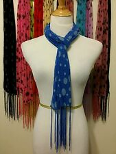 12 New Wholesale dot LOT Polyester Shawl Long Scarf Stole Wrap Women scarves