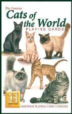 Cats Of The World Conjunto De 52 Jugar Tarjetas + Bromistas ( Hpc )