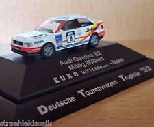 DTT 1993 AUDI QUATTRO s2 euro mietkran Team Wilbert Möhlig #6 1:87 Rietze