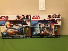 Star Wars Vehicle Lot Of 2 Resistance A-Wing Fighter Canto Bight Police Speeder