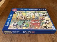 Cats in the Conservatory 1000 piece jigsaw by FX Schmid Complete In VGC