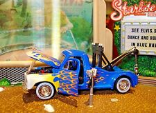 1951 STUDEBAKER TOW TRUCK LIMITED EDITION 1/64 M2  WINCH AND HOOK FLAMED HAULER