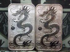 (Lot of 2) 2018 Australia Dragon Perth Mint 1oz Silver Bar #RP ECC&C, Inc.