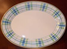 "Lenox SOUTHERN GATHERINGS, 16"" Plaid Oval Platter 1st Quality**Retail $129.00**"
