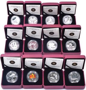 Canada Silver Coin Fine Silver Proof Full Set 2013 O Canada $10 Dollar 12x Coins