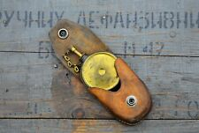 Brass Oil can in Leather bag #2