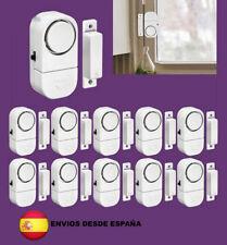 10x Alarma sistema de seguridad para instalación en puertas y ventanas 90db