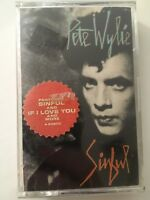 Vintage 1987 Cassette Tape Pete Wylie Sinful Electronic Synth Pop Virgin Dolby