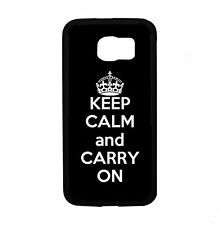 Black Keep Calm and Carry On For Samsung Galaxy S6 i9700 Case Cover