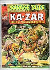 Marvel Magazine SAVAGE TALES: KA-ZAR #6 Sept 1974 vintage comic VF/NM