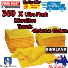 360 x Kirkland Signature Ultra Soft Plush Microfibre Car Towels 40.6cm x 40.6cm