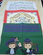 3 Tea Towels. Collectable. Lot # 3 Irish, Scot, Welsh Design - Sell for Charity