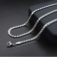 Edel Panzerkette 5MM Halskette Silber 60cm lang Designer Schmuck Damen Herren