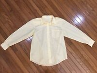 Foxcroft Women's Yellow Wrinkle Free Button Down Shirt Blouse Top Size 12