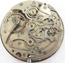 VINTAGE MOERIS CAL. 5 UP DOWN DIALS CHRONOGRAPH POCKET WATCH MOVEMENT.