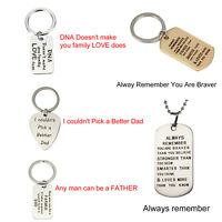 Unique Letter Dog Tag Keychain Custom Stainless Steel Key Necklace Ring