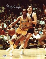 ELGIN BAYLOR SIGNED AUTOGRAPHED 11x14 PHOTO LOS ANGELES LA LAKERS ITP PSA/DNA