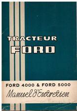 ---► Livret Entretien TRACTEUR 4000 et 5000 tracteur tractor Traktor French