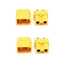 2x Paar 4 Stück XT30 STECKER BUCHSE Goldstecker Lipo Akku RC 30A Gelb XT 30 RC