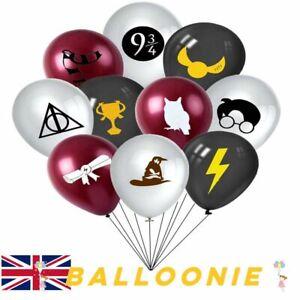 "Harry Potter Black Grey Latex Balloons Happy Birthday Party Decoration 12"""
