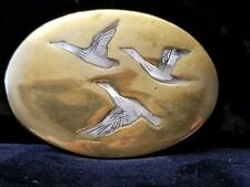Vintage Duck Belt Buckle with Mother in Pearl Inlay