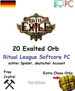 20 x Exalted Orb | Ritual League SoftCore | Path of Exile | PoE | PC