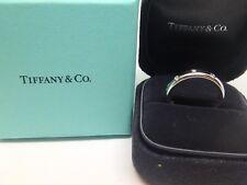 Tiffany & Co Platinum and Diamond 4 mm Etoile Ring Size 8