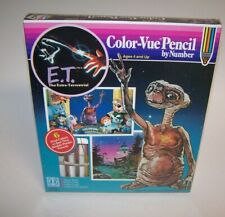 Vintage E.T. The Extra Terrestrial Color-Vue Pencil Set by Number Hasbro 1982