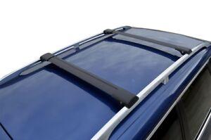 Alloy Roof Rack Slim Cross Bar for Volkswagen Tiguan 09-16 Lockable Black