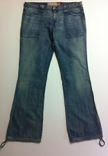 GUESS JEANS USA Womens Vintage Retro Indigo Wash Flared Boho Denim Jeans Size 30