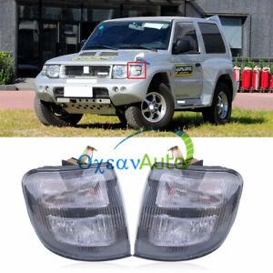 One Pair Front Corner Turn Signal Lamp Light For Mitsubishi Pajero Montero 97-99