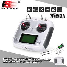 FS-I6S AFHDS 2,4GHz 10CH Transmitter Sender +Empfänger für RC Hubschrauber Drone