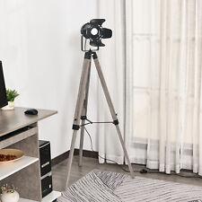 HOMCOM Floor Lamp Non-Slip Feet Height Adjustable Camera-Shaped Bracket Wood