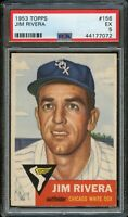 1953 Topps BB Card #156 Jim Rivera Chicago White Sox ROOKIE CARD PSA EX 5 !!!!