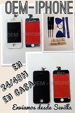 KIT PACK Pantalla Retina iPhone 4 BLANCO + Botón + TAPA TRASERA + HERRAMIENTAS