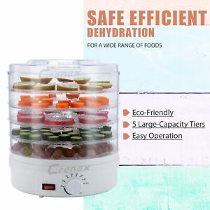 5-Tier Food Dryer Dehydrator 350W Machine Drying Meat Fish Veg Healthy Snacks