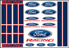 NEW PEEL AND STICK 1:64 SCALE HOT WHEELS RACING STRIPES FORD RACING DECALS