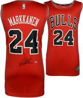 Lauri Markkanen Chicago Bulls Autographed Red Fanatics Fastbreak Jersey
