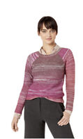 Leo & Nicole Women's Sweater Pink PXL Petite Boat Neck Striped Knit New with Tag
