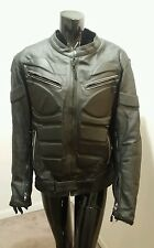 Strength And Speed Armored Leather Motorcycle Jacket Size Large