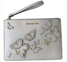 MICHAEL Michael Kors Butterflies White Leather  ZIP Clutch Bag